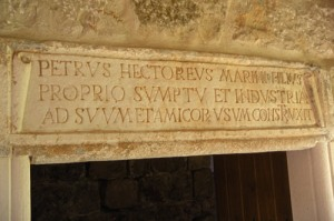 Inscription over the entry