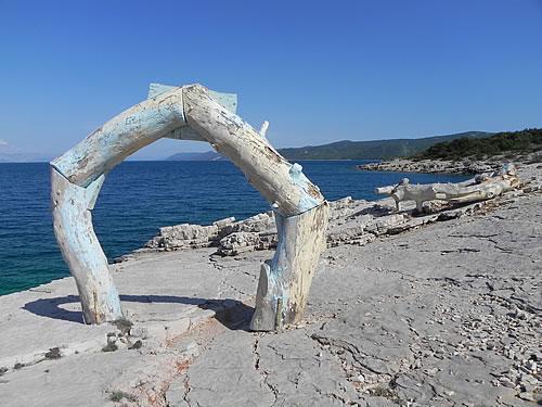 Artwork on the beach
