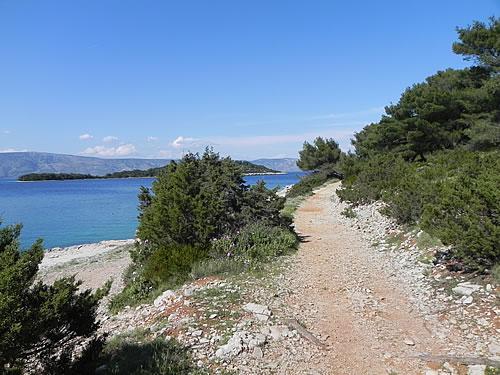 The path around Glavica