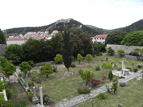 The garden from the terrace