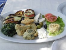 The wonderful vegetarian platter