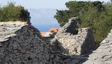 Humac ruins with view over Brac