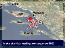 Analysis of the Makarska-Hvar earthquakes in 1962