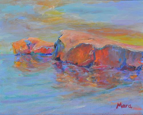 Painting Rocks! #11 Homage to Mato Celestin Medović