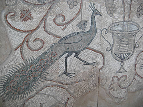 Roman mosaic in the Stari Grad Museum