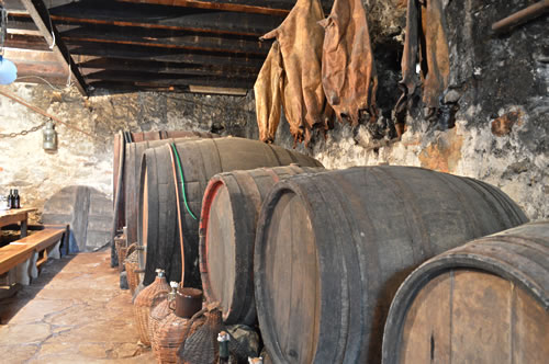 Barrels and goatskins
