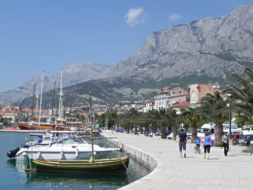 A walk along the lovely Makarska waterfront