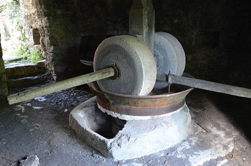 Old stone olive press