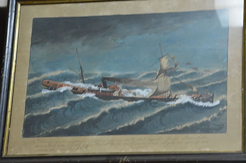 Painting donated by a grateful sailor