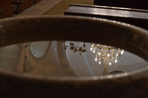 Reflections in the font
