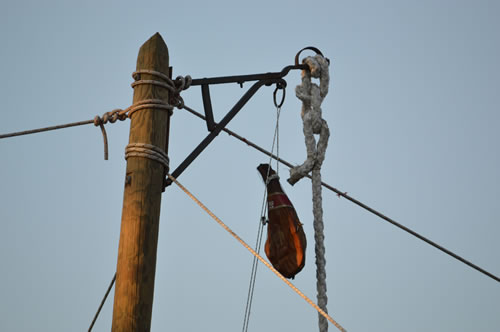 Ham on a rope