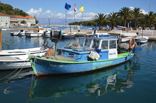 Boats in Jelsa harbour
