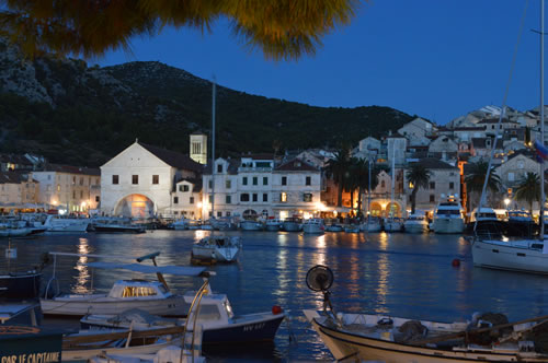 The lights of Hvar