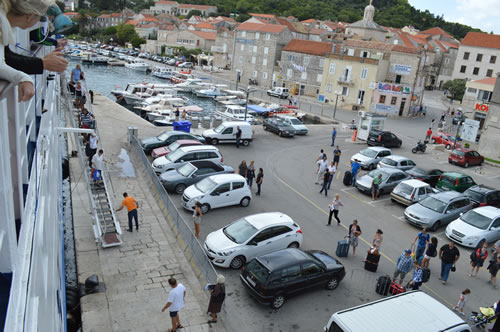 The port of Korcula