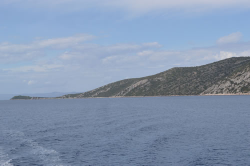 The northern tip of Peljesac