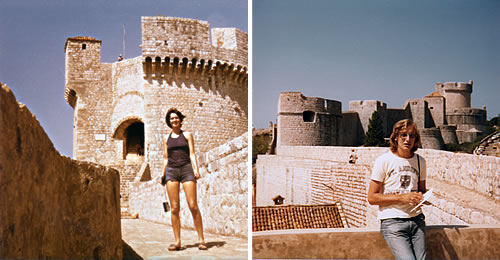 On the walls of Dubrovnik in 1977