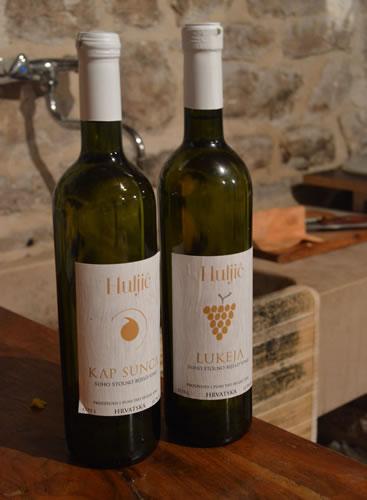 Bottles of Huljiċ wine