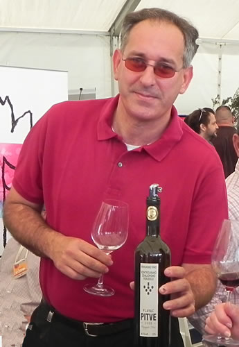 Tonči Marijan at the Dalmatian Wine Expo