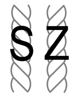 S and Z yarn twist