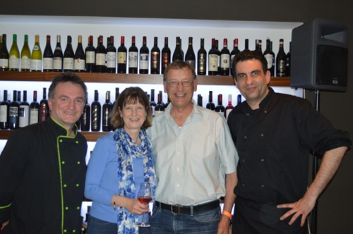 At Kadena restaurant with chefs Braco Sanjin and Tomislav Nikšić