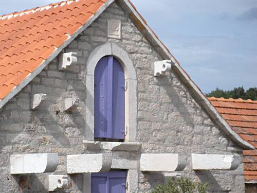 Lavender shutters for a bold statement!