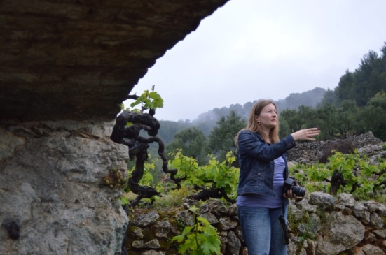 Ivana Carić takes us on a guided tour of their vineyards