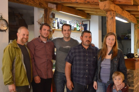 Blue Danube Wine team with the Carić family