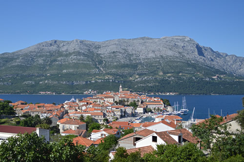 The beautiful town of Korčula