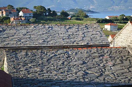 Stone roofs in Lumbarda