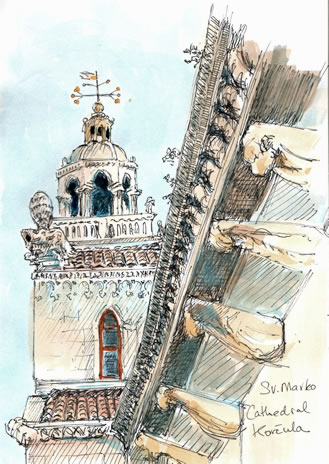 My sketch of St Mark's bell tower