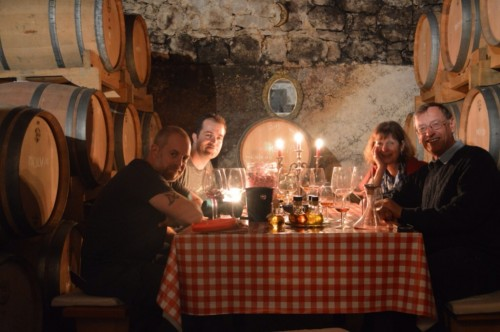 A very atmospheric wine tasting experience