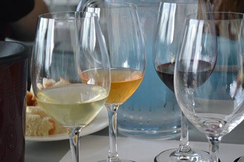 From the left: Tomac Riesling, Krauthaker Graševina, Coronica Grand Teran