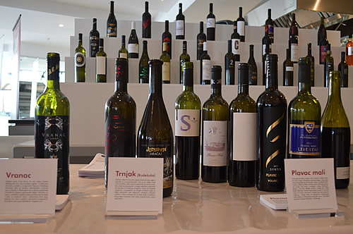 Just some of the wine varieties in Dalmatia