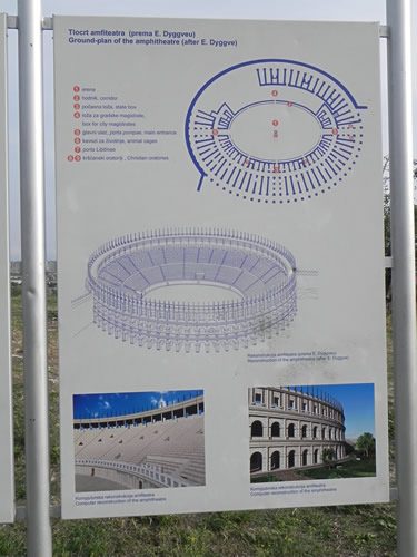 Reconstruction of amphitheatre