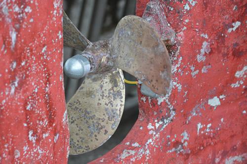 Brass propeller