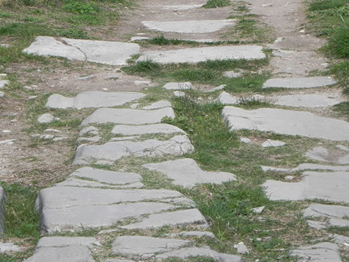Roman road surface