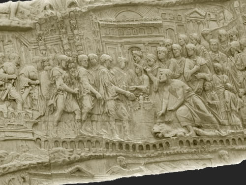 Depiction of Salona of Trajan's Column