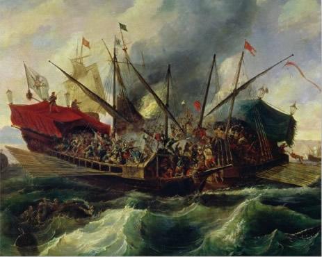 Batalla de Lepanto by Antonio Brugada