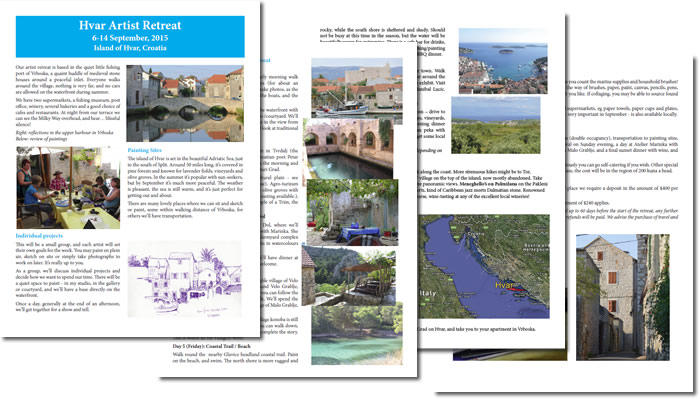 Hvar Artist Retreat brochure 2015