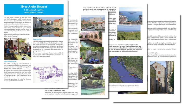 Hvar Artist Retreat brochure 2015