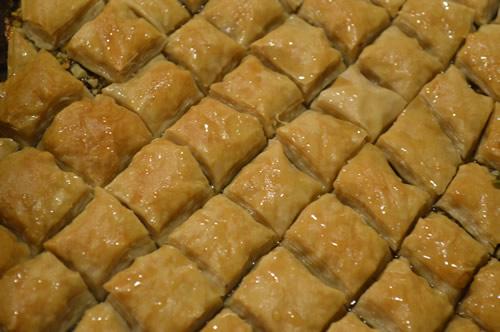 Freshly baked baklava