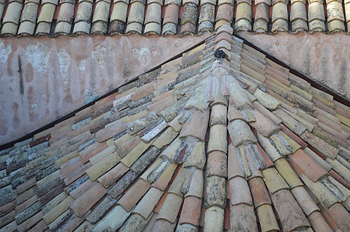 A beautifully artistic roof, Dubrovnik