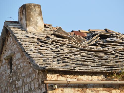 Old stone roof, Vrboska
