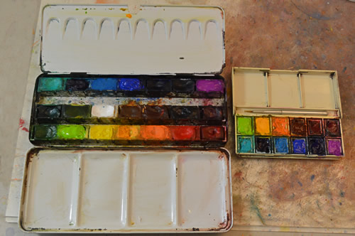 Watercolour boxes