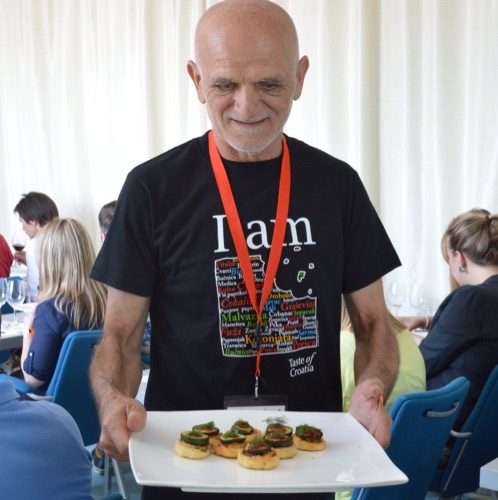 Čedo Kovačević serves his