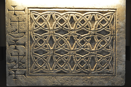 Stone relief looks almost Celtic