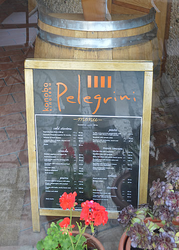 Pelegrini menu