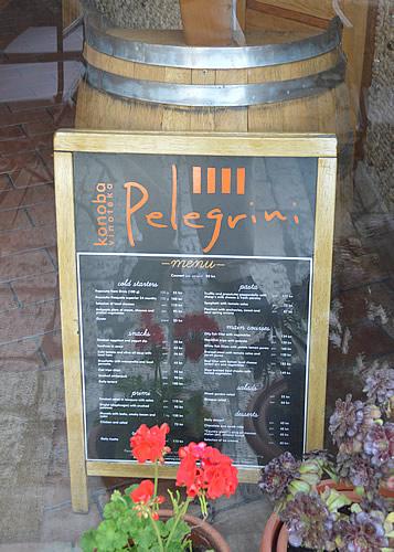 Pelegrini menu