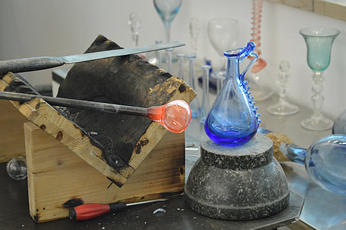Glass-blowing demo