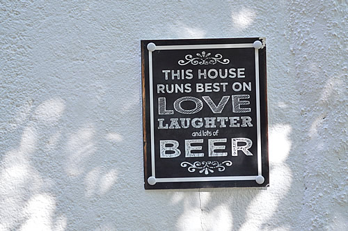 This house runs on beer